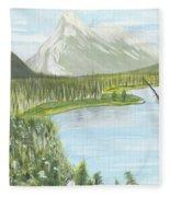 Rundle From Banff Fleece Blanket