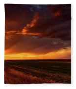 Rural Sunset Beauty Fleece Blanket