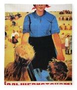 Russia: Collective Farm Fleece Blanket