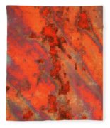 Rust Abstract Fleece Blanket