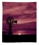 Rustic Sunset - Colorado Fleece Blanket