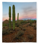 Saguaro Dusk Fleece Blanket