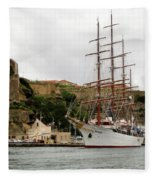 Sailing Ship Fleece Blanket