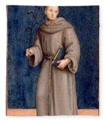 Saint Anthony Of Padua Fleece Blanket