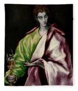 Saint John The Evangelist Fleece Blanket