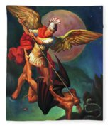 Saint Michael The Warrior Archangel Fleece Blanket