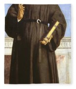 Saint Nicholas Of Tolentino Fleece Blanket