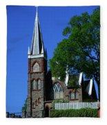Saint Peter's Roman Catholic Church In Harpers Ferry Fleece Blanket