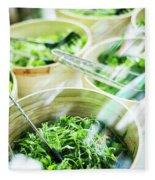 Salad Bar Buffet Fresh Mixed Lettuce Display Fleece Blanket