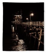 San Clemente Pier Fleece Blanket