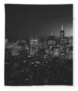 San Francisco At Sunset Fleece Blanket