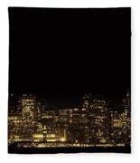 San Francisco Nighttime Skyline Fleece Blanket