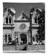 Santa Fe - Basilica Of St. Francis Of Assisi Fleece Blanket