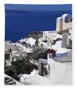 Santorini Overview Fleece Blanket