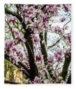 Saucer Magnolias In Central Park Fleece Blanket