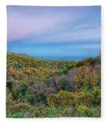 Scenic Blue Ridge Parkway Appalachians Smoky Mountains Autumn La Fleece Blanket