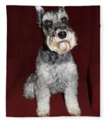Schnauzer Portrait Fleece Blanket