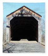 Schofield Ford Covered Bridge Fleece Blanket
