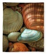 Sea Pebbles With Shells Fleece Blanket
