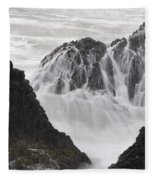 Seal Rock Waves And Rocks 2 Fleece Blanket