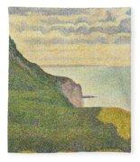 Seascape At Port-en-bessin Normandy Fleece Blanket