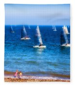 Seaside Fun Fleece Blanket