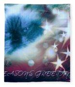 Seasons Greetings Fleece Blanket