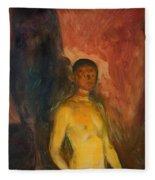 Self Portrait In Hell Fleece Blanket