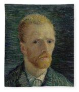 Self-portrait Paris July  August 1887 Vincent Van Gogh 1853  1890  Fleece Blanket