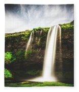 Seljalandfoss - Iceland Fleece Blanket