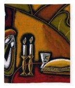 Shabbat Shalom Fleece Blanket