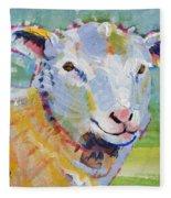 Sheep Head Fleece Blanket