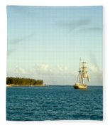 Ship Off The Bow Fleece Blanket