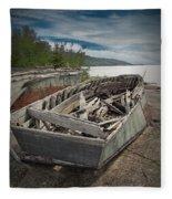 Shipwreck At Neys Provincial Park Fleece Blanket