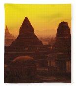 Shwesandaw Paya Temples Fleece Blanket