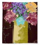 Sienna Floral Fleece Blanket