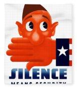 Silence Means Security Fleece Blanket