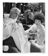 Silent Still: Beauty Salon Fleece Blanket
