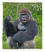 1- Silverback Western Lowland Gorilla  Fleece Blanket