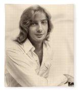 Singer Barry Manilow 1975 Fleece Blanket