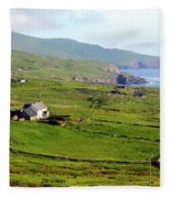 Skellig Ring - Ireland Fleece Blanket