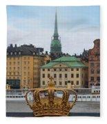 Skeppsholmsbron - Stockholm Fleece Blanket