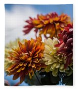 Sky Flowers Fleece Blanket