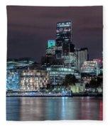 Skyline Of London Fleece Blanket