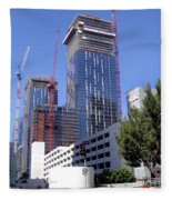 skyscraper construction in Downtown Los Angeles... Fleece Blanket