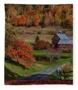 Sleepy Hollow Farm Fleece Blanket