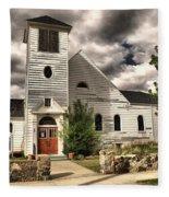 Small Town Church Fleece Blanket
