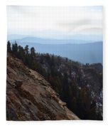 Smoky Evening Vista Over Kings Canyon Fleece Blanket