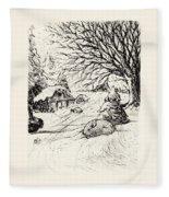 Snow Bunny Fleece Blanket