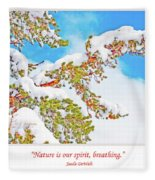 Snow-covered Conifer Fleece Blanket